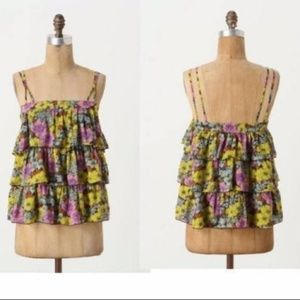 Anthropologie Leifnotes Tiered Petunia Tank Tiered